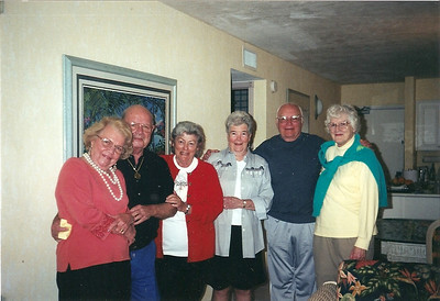 George Hoover, second from the right, his wife, Bobbie, third from the left, and their Florida friends. (Photo courtesy of the family.)