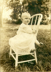 "Henry Schriver, 1915, around age 1. In later years, he would say: ""I was born to the land. I wouldn't be happy anywhere else. I like to watch the seedlings grow and pop out of the soil."" (Photo courtesy of the family.)"