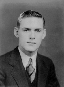 """Henry Schriver, 1937. """"One of my favorite things that Dad did in his later years, at Mom's encouragement, was write down notes of things that interested him during his life,"""" said daughter Carol Schriver Carpenter. """"What most interested him was people."""" She organized his notes into a memoir that was distributed to the family.  (Photo courtesy of the family.)"""