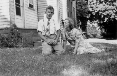 """Henry Schriver met Dorothy """"Dot"""" Langshaw through 4-H and the Wesley Foundation at The Ohio State University. They were married in 1938. (Photo courtesy of the family.)"""