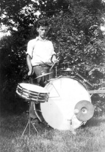 Henry Schriver played drums and xylophone at private parties and public events. (Photo courtesy of the family.)