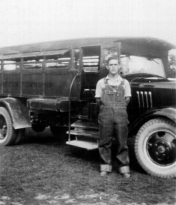 Henry Schriver drove a school bus for a short time after leaving Kent Normal School and before starting his studies at Ohio State University around 1933. (Photo courtesy of the family.)