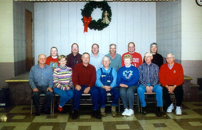 Henry Schriver with his 12 children. Back row, from the left: Ellen, Larry, Ted, Ken, Randy and Hiro. Front r, from the left: Paul, Sally, Jim, Henry, Carol, Bill and Don. (Photo courtesy of the family.)