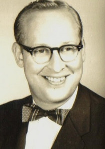 This image of Herman Frankel appeared regularly in the Elyria Chronicle-Telegram in the 1950s and '60s with announcements about his movie theaters, Kiwanis work and leadership of what was then the Council for Mentally Retarded Children of Greater Elyria.