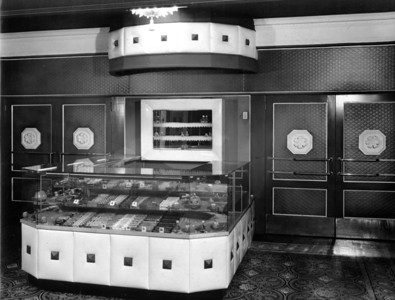 Courtesy of The Lorain County Historical Society: Herman Frankel donated a collection of photos related to his movie theaters to the historical society. This photo shows the candy counter in the lobby of the Capitol Theatre in Elyria.