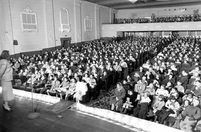 Courtesy of The Lorain County Historical Society: Herman Frankel donated his collection of photos like this one, showing a Capitol Theatre audience from half a century ago, to the Lorain County Historical Society.