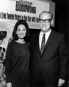 "Courtesy of The Lorain County Historical Society: Herman Frankel, right, met movie stars like Suzanne Pleshette, right, at National Association of Theater Owners conventions. ""Sophia Loren appeared at one of them,"" said Frankel's wife, Aileen."