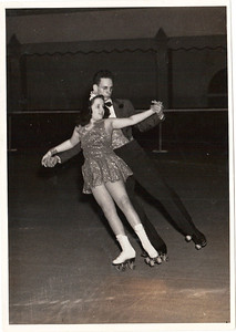 Jeanne Doyle dances on roller skates with Mack Long. (Photo courtesy of the family.)