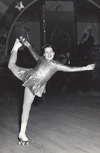 Jeanne Doyle, shown in 1946, began competing on roller skates at a young age. (Photo courtesy of the family.)