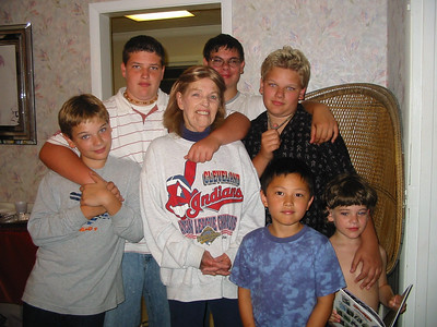 Jeanne Krenek with her grandsons. (Photo courtesy of the family.)