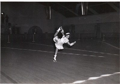 Jeanne Doyle doing a spiral move in the 1940s. (Photo courtesy of the family.)