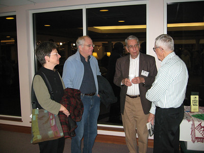 Jim White (second from the right) welcomes guests to an Oberlin Heritage Center community program presented at Kendal at Oberlin. (Photo courtesy of Oberlin Heritage Center.)