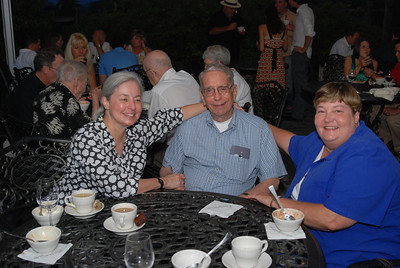 Jim White, center, with his niece Valerie Brady, left, and second cousin Jeanne Kigerl, right, at a wedding rehearsal dinner for another family member in 2008. (Photo courtesy of the family.)
