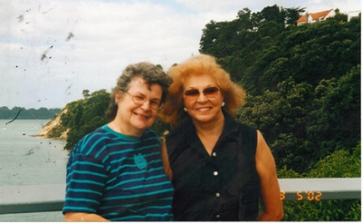 Joan Park and her high school friend, Wanda Ross. (Photo courtesy of the Park family.)