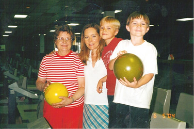 Joan Park goes bowling with her daughter-in-law, Kellea, and grandsons, Mason and Dylan.(Photo courtesy of the Park family.)