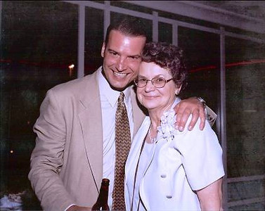 Joan Park gets some love from her son Greg.(Photo courtesy of the Park family.)