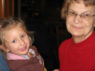 Joan Park, right, with her great-granddaughter Ellie. (Photo courtesy of the Park family.)