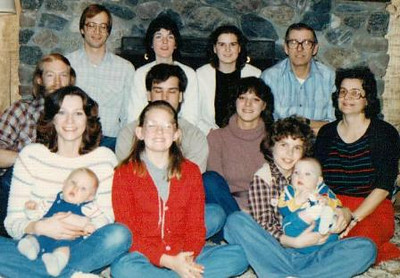 The Park family at Christmas 1982. Joan is at the far right. (Photo courtesy of the Park family.)