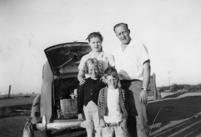 Lenore and Bill Eastin, pictured with their kids, Annette and Bob, visited Lenore's sister in Arizona around 1950.