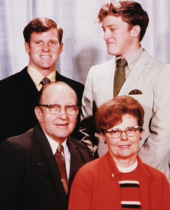 Eastin family, 1960s: Standing, from left, Bob and Roger; Seated, Bill and Lenore.