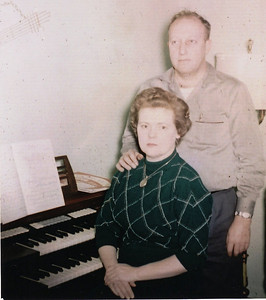 Lenore Eastin, pictured at the organ with her first husband, Bill Eastin, in the 1950s, played the organ and sang at several church functions, weddings and other events.