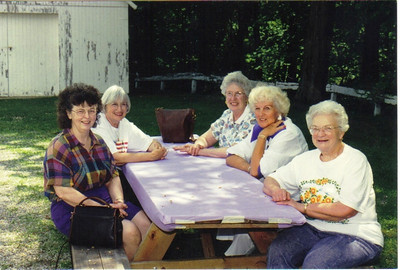 These women from Zion Evangelical Lutheran Church in Valley City, shown in 1996, are, from the left, Wilma French, Phyl Wolff, Vivian Hershey, Evelyn Riggs and Ruth Ringstmeier.
