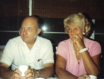 Evelyn Riggs and her second husband, Allan Riggs, shown in 1990, were married in 1982.