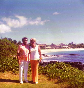 Edwin and Evelyn Steingass spent some winter vacations in Hawaii before Edwin's death in 1979.