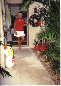 Evelyn Riggs, pictured in 1990, spent winters at this condominium in Florida.