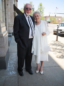 Sonny and Betty Baker, pictured in their Sunday best, on their way to lunch after attending church services.