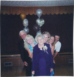 The Bakers' 50th wedding anniversary party in 2004: From the left - Sonny Baker, Debbie Baxter, Betty Baker, Fran Albrecht, Mick Laney and Tom Baker.