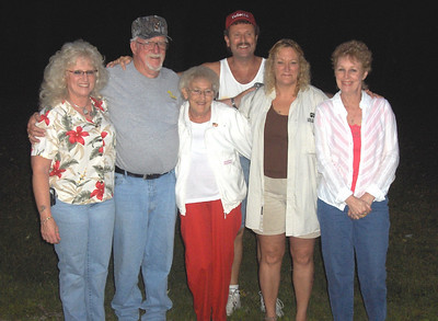 Just a fun day outside Chippewa Lake for Sonny Baker's family. From the left: his daughter Debbie Baxter, Sonny, wife Betty, son Tom, daughter Michele Laney and daughter Fran Albrecht.