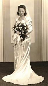 Mae Pulaski became Mrs. Verne Dillworth on Oct. 17, 1942.