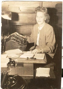Mae Pulaski Dillworth worked as a teller for First National Bank in Akron for many years before leaving her career and moving to a Granger Township farm with her husband, Verne, in the 1950s.