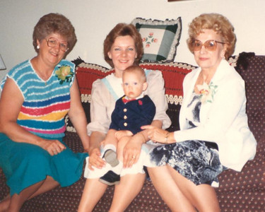 Mae Dillworth, right, is pictured with her daughter, Veronica Hayes, center, Veronica's mother-in-law, Amy Hayes, left, and Veronica's son, J.J., in the late 1980s.