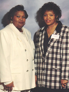 Maggie Terry and her daughter, Tonya Edwards, pictured in the 1990s.