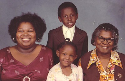 Maggie Terry's family portrait from early 1970s, clockwise from the left: Maggie, her son, Marvin Edwards, her mother, Carrie Edwards, and her daughter, Tonya Edwards.