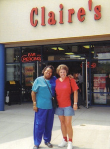 Maggie Terry goes shopping with a friend.