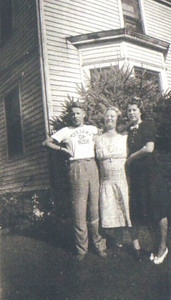 "The Telzerows: Harold, mother Emma and Marie. Marie's mom was ""very disappointed"" when Marie announced she was marrying Frank Stang, according to Marie's cousin Esther Sciulli. ""She said, 'I didn't raise my daughter to be a farmer's wife.' Marie was happy with him. My aunt eventually did decide he was okay."""
