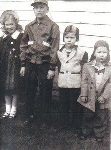 Marie and Frank Stang's kids - DeAnn, Gary, Wayne and Dennis - around 1954.