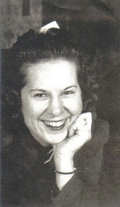 Marie Telzerow shows off her engaging smile and her engagement ring from Frank Stang in the early 1940s.