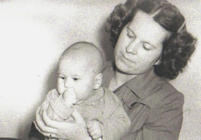 Marie Stang and her son, Wayne, in 1949.
