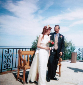 The Hasemanns - Sylvie Michaud and Martin Hasemann - were married June 24, 2000, in the town of Baie Comeau, Québec, Canada. (Photo courtesy of the family.)
