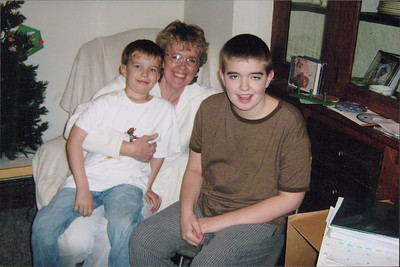 Christopher, Diane and Micah Black at Christmastime.
