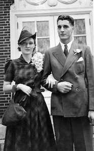 Millie Haulk married George Arthrell at the First Methodist Church of Oberlin on Sept. 16, 1939. (Photo courtesy of the Arthrell family.)