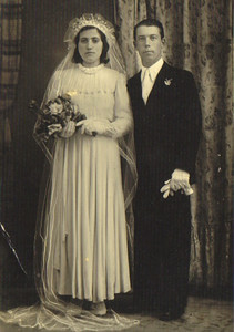 Pat Ziroli's parents, Filomena and Adelfo, on their wedding day in Italy. (Photo courtesy of the family.)