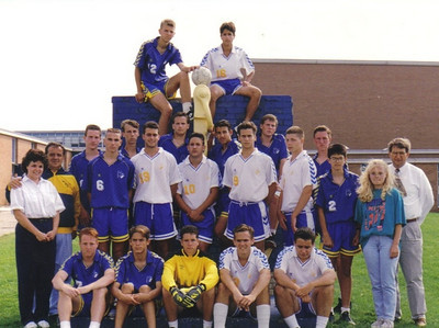 This Admiral King High School boys soccer team went undefeated in the regular season, won the Erie Shore Conference title and advanced to the Division I sectional finals in 1993. (Photo courtesy of the family.)