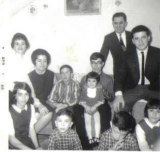 The Ziroli extended family's cousins, 1966. Pat Ziroli is at far right in suit and tie. (Photo courtesy of the family.)