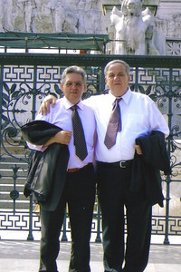 Pat Ziroli, right, and his cousin, Sandreno, at a relative's wedding in Italy. (Photo courtesy of the family.)