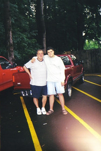 Pat Ziroli and his son, Anthony, packed up the pickup truck to haul Anthony's stuff to Aquinas College in Michigan. (Photo courtesy of the family.)
